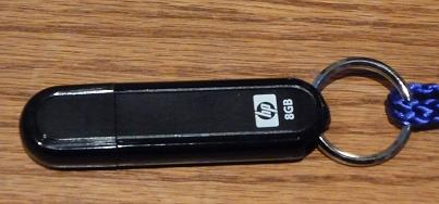 An 8 gig portable drive from HP